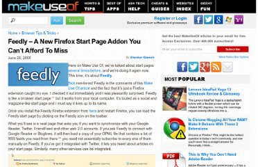 http://www.makeuseof.com/tag/feedly-a-new-firefox-start-page-addon-you-cant-afford-to-miss/