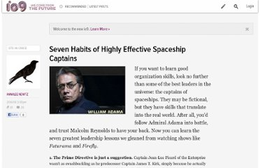 http://io9.com/353543/seven-habits-of-highly-effective-spaceship-captains