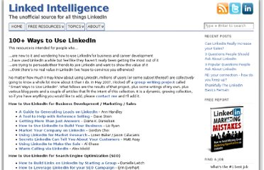 http://linkedintelligence.com/smart-ways-to-use-linkedin/