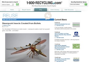 http://1800recycling.com/2011/03/steampunk-insects-recycle-bullets/