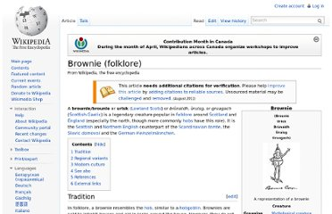 http://en.wikipedia.org/wiki/Brownie_(folklore)