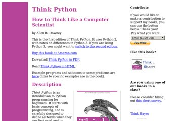 http://www.greenteapress.com/thinkpython/