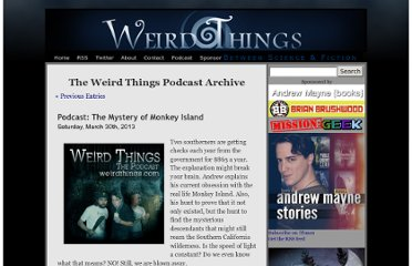 http://weirdthings.com/category/podcasts/