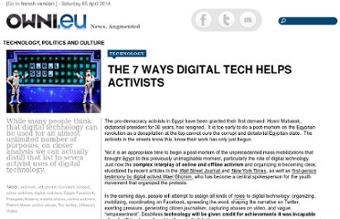 http://owni.eu/2011/03/09/the-7-ways-digital-tech-helps-activists/