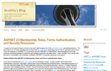 http://weblogs.asp.net/scottgu/archive/2006/02/24/ASP.NET-2.0-Membership_2C00_-Roles_2C00_-Forms-Authentication_2C00_-and-Security-Resources-.aspx