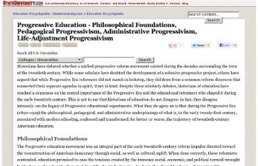 http://education.stateuniversity.com/pages/2336/Progressive-Education.html