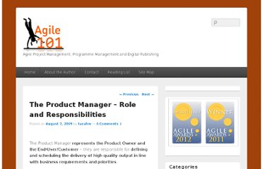 http://agile101.net/2009/08/07/the-product-manager-role-responsibilities/