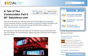 http://www.socialfish.org/2011/03/a-tale-of-two-communities-part-ii-salesforce-com.html