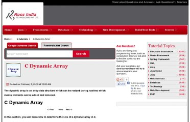 http://www.roseindia.net/c-tutorials/c-dynamic-array.shtml