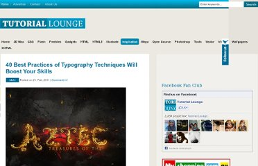 http://www.tutoriallounge.com/2011/02/40-best-practices-of-typography-techniques-will-boost-your-skills/