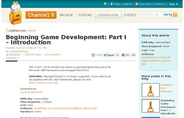 http://channel9.msdn.com/coding4fun/articles/Beginning-Game-Development-Part-I--Introduction