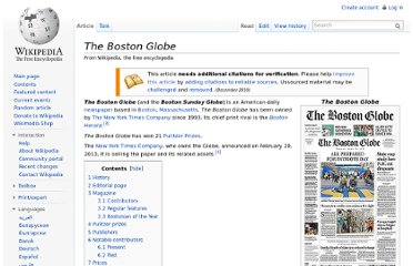 http://en.wikipedia.org/wiki/The_Boston_Globe