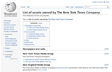 http://en.wikipedia.org/wiki/List_of_assets_owned_by_The_New_York_Times_Company