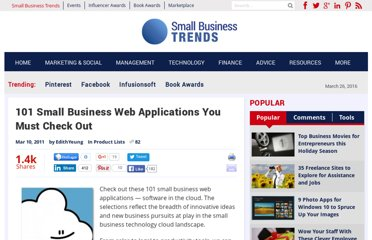 http://smallbiztrends.com/2011/03/101-small-business-web-applications.html