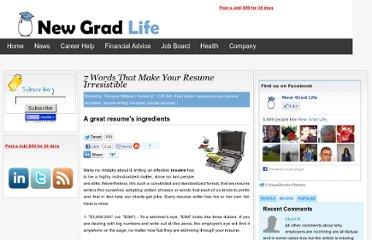 http://newgradlife.blogspot.com/2010/03/resume-samples-resume-writing-resume.html