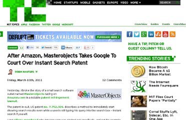 http://techcrunch.com/2011/03/11/after-amazon-masterobjects-takes-google-to-court-over-instant-search-patent/