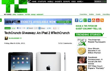 http://techcrunch.com/2011/03/11/techcrunch-giveaway-an-ipad-2-techcrunch/
