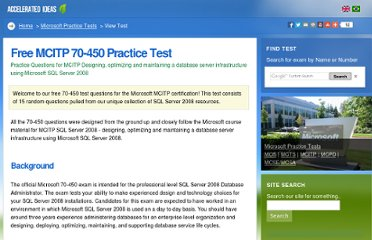 http://www.accelerated-ideas.com/free-mcitp-70-450-test-questions.aspx