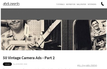 http://abduzeedo.com/50-vintage-camera-ads-part-2