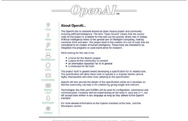 http://openai.sourceforge.net/about.html