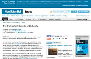 http://www.newscientist.com/article/mg20928024.100-gravitys-bias-for-left-may-be-writ-in-the-sky.html