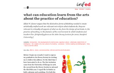 http://www.infed.org/biblio/eisner_arts_and_the_practice_of_education.htm