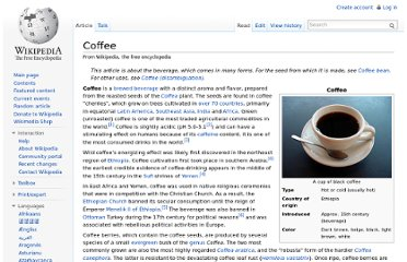 http://en.wikipedia.org/wiki/Coffee