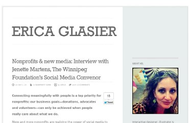 http://ericaglasier.com/2010/09/02/nonprofits-new-media-interview-with-jenette-martens-the-winnipeg-foundations-social-media-convenor/