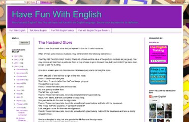 http://www.fun-with-english.co.uk/2010/01/husband-store.html