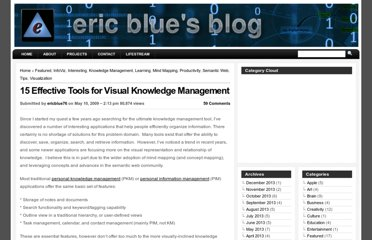 http://eric-blue.com/2009/05/10/15-effective-tools-for-visual-knowledge-management/