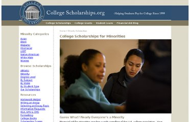 http://www.collegescholarships.org/other-minority-scholarships.htm