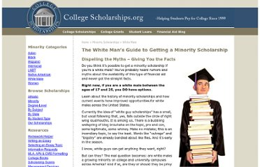 http://www.collegescholarships.org/scholarships/white-scholarship-guide.htm
