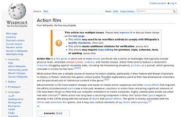 http://en.wikipedia.org/wiki/Action_film