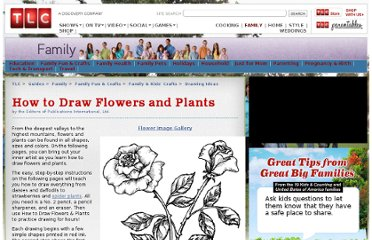 http://tlc.howstuffworks.com/family/how-to-draw-flowers-and-plants.htm