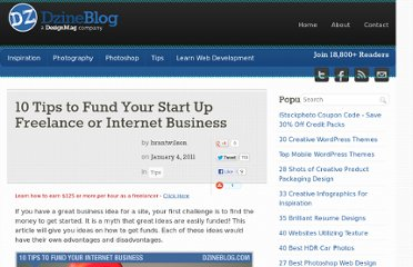 http://dzineblog.com/2011/01/10-tips-to-fund-your-start-up-freelance-or-internet-business.html