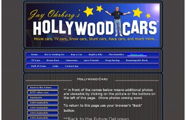 http://www.jayohrberg.com/Movie_cars.html