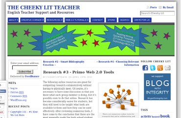 http://cheekylit.com/web2-0tools-student-group-research-projects/