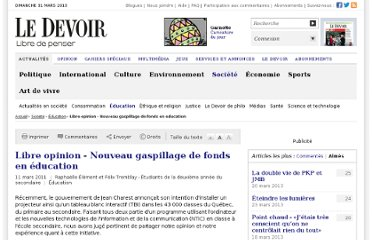 http://www.ledevoir.com/societe/education/318479/libre-opinion-nouveau-gaspillage-de-fonds-en-education
