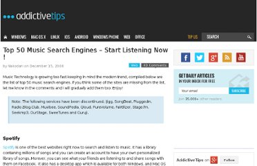 http://www.addictivetips.com/internet-tips/top-50-music-search-engines-start-listening-now/