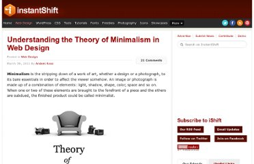 http://www.instantshift.com/2011/03/07/understanding-the-theory-of-minimalism-in-web-design/