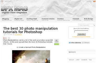 http://dpxmag.com/the-best-30-photo-manipulation-tutorials-for-photoshop.html