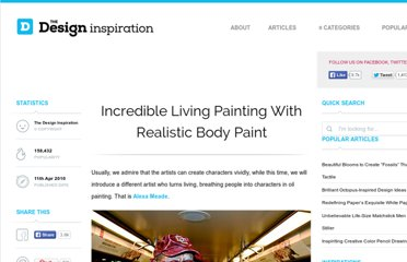 http://thedesigninspiration.com/articles/incredible-living-painting-with-realistic-body-paint/