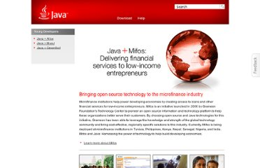 http://www.java.com/en/java_in_action/mifos.jsp