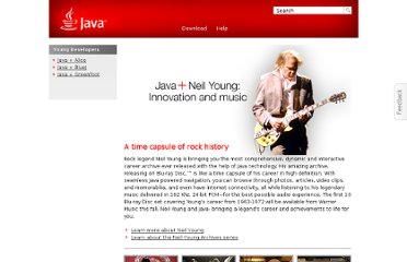http://www.java.com/en/java_in_action/neil_young.jsp