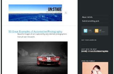 http://www.unstage.com/2010/03/50-great-examples-of-automotive-photography/