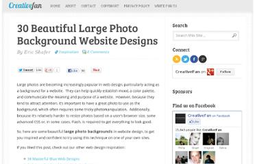 http://creativefan.com/30-beautiful-large-photo-background-website-designs/