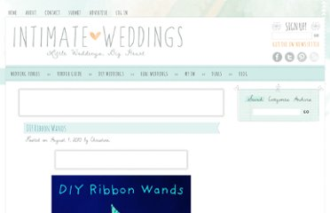 http://www.intimateweddings.com/blog/diy-ribbon-wands/
