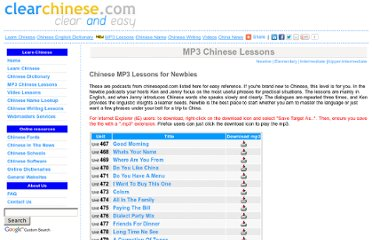 http://www.clearchinese.com/mp3-lessons/newbie/index.htm