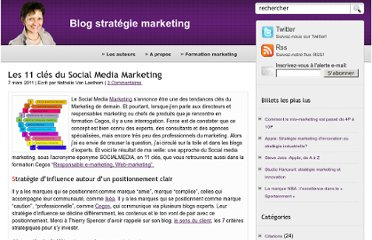 http://www.marketing-strategie.fr/2011/03/07/les-11-cles-du-social-media-marketing/