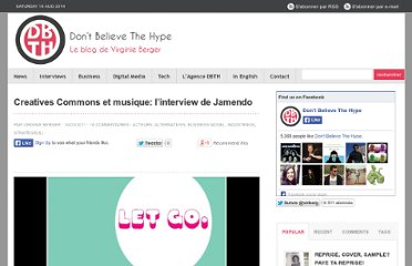 http://virginieberger.com/2011/03/creatives-commons-et-musique-linterview-de-jamendo/